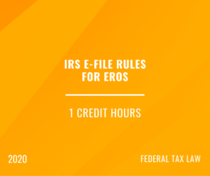 2020 | IRS e-file Rules for ERO's