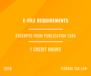 2019 IRS e-file Rules for ERO's