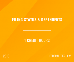 2019 Filing Status and Dependents
