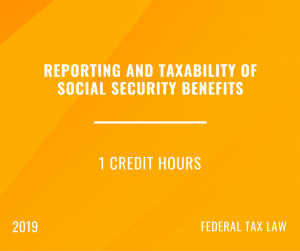 2019 Social Security & Retirement Benefits