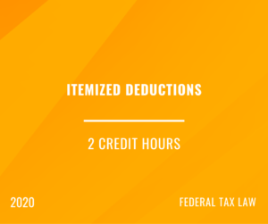 2020 | Itemized Deductions