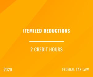 2020 | Itemized Deductions