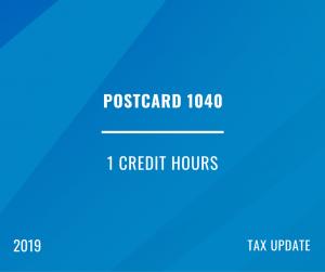 2019 Postcard 1040