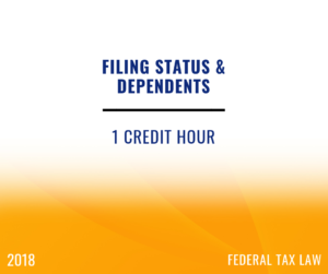 2018 Filing Status and Dependents