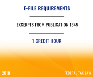 2018 IRS e-file Rules for ERO's