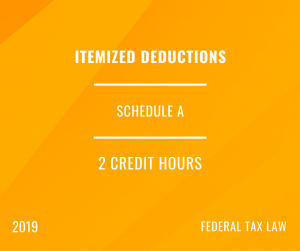 2019 Itemized Deductions