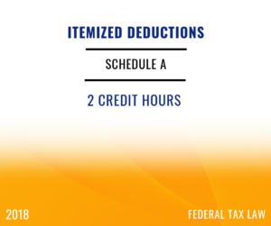 2018 Itemized Deductions