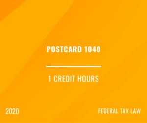 2020 | Postcard 1040